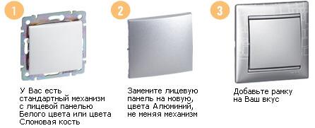 Алюминий, лицевая панель